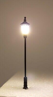 5 LED Lampen Laternen Metall H0 für Modellbau mit Widerständen für 12 Volt