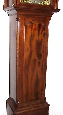 Antique Musical Tube Quarter Chiming Mahogany Longcase Grandfather Clock WORKING 8