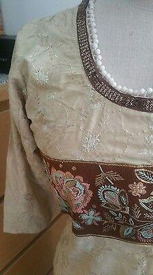 Eid pakistani designer anarkali shalwar kameez saree sari lengha suit medium 4
