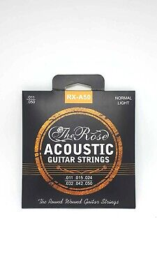 Gitarrensaiten Set für Akustikgitarren - Stahlsaiten 6x - The Rose + 3 Piks Free 5