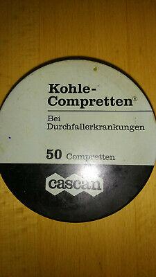 Blechdose Kohle Compretten Cascan  E. Merck Darmstadt Werbung Blech Dose antik 3