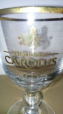 1x Verre 15 cl  ※ Bière Gouden CAROLUS ※ COLLECTION Liseret doré sur pied