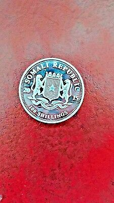 Africa African Life 2015 100Shillings Somalia Silver Unc Coin 1 Oz .999 Elephant 2