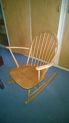 Stupendous Vintage Ercol Windsor Tub Rocking Chair Blonde Light Elm Mid Evergreenethics Interior Chair Design Evergreenethicsorg