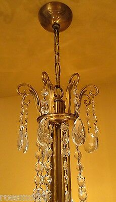 Vintage Lighting 1950 Mid Century Hollywood Regency. ONE chandelier. TWO sconces 6