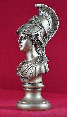 Athena bust greek statue wisdom gold patina goddess NEW Free Shipping -Tracking 3