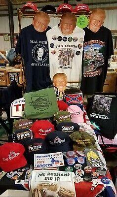 Deplorable For Trump Mossy Oak Hat + Anti Hillary Button Free Trump 2020 Sticker 6