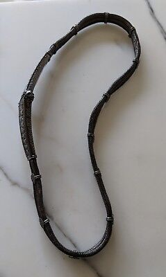 Antiq Rajasthan India Ethnic Tribal Silver Triple Snake Chain Wedding Dowry Belt 7