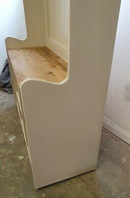 Handmade solid Pine 3ft Hall Stand Shoe Storage Coat Hooks Farrow and Ball 7