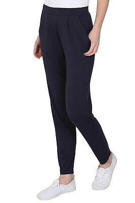Ex M&S Jersey Tapered Pull On Trouser Ladies Stretchy Pants Marks Spencer 4