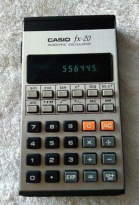 CASIO FX-20 calculadora científica VINTAGE year 1975 3