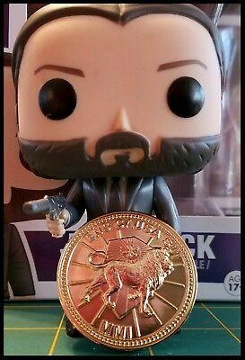 John Wick Challenge Coin Krugerrand Pop Continental Hotel Assassin Keanu Movie 9