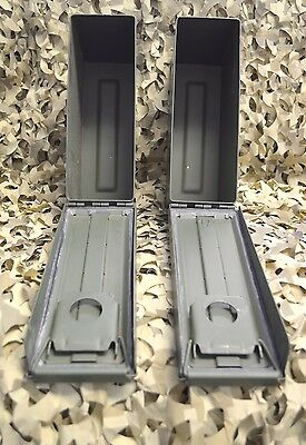 ** 2 PACK **NEW MILITARY M19A1 7.62 / 308 30 Cal AMMO CAN ** FREE SHIPPING** 4