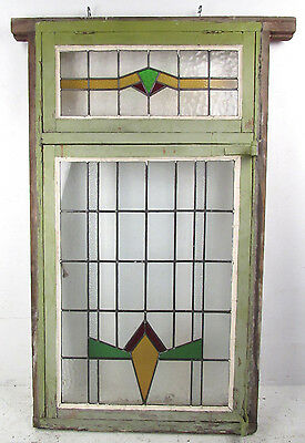 Large Vintage Stained Glass Window (2940)NJ 2