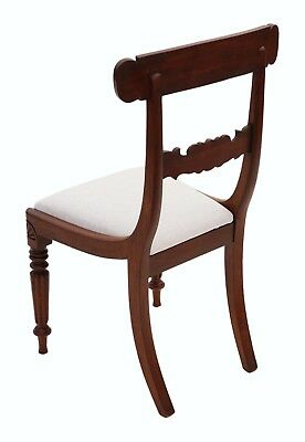 Antique quality set of 4 William IV mahogany bar back dining chairs C1835 4862 5