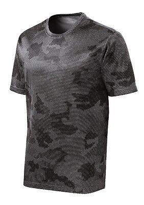 *NEW*SportTek DriFit T-Shirt Workout Performance Moisture Wicking Camo Hex ST370 4