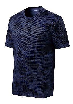 *NEW*SportTek DriFit T-Shirt Workout Performance Moisture Wicking Camo Hex ST370 9