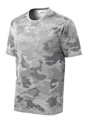 *NEW*SportTek DriFit T-Shirt Workout Performance Moisture Wicking Camo Hex ST370 11
