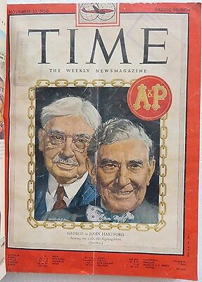 Time Magazine Pacific edition oct.23 1950 to dec.18 1950 weekly 9pcs Back Issue