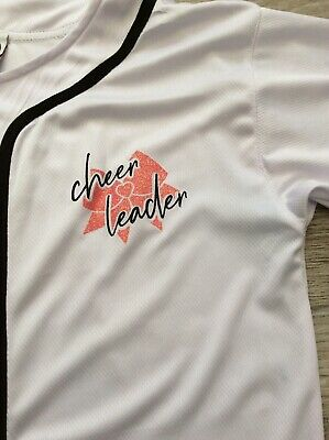 Girls Cheerleading Top Size Youth Large Excellent Condition 4