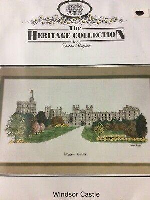 "/""Warwick Castle/"" SUSAN RYDER Heritage Stitchcraft ©1991 OOP//NLA Castles"