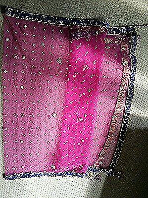 Shocking Pink & Royal Blue Heavy Jewelled  Diamante Work Shrara /wedding/party 7