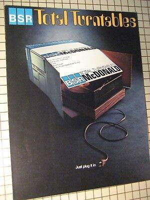 BSR Turntables Original Brochure 20BPX, 200BAX, 100BAX 6