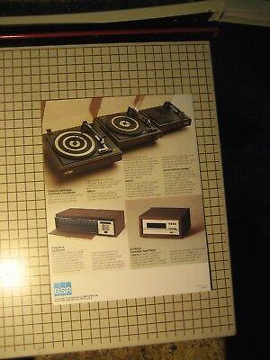 BSR Turntables Original Brochure 20BPX, 200BAX, 100BAX 5