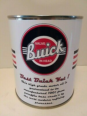 Vintage Buick Motor Oil Can 1 qt - (Reproduction Tin Collectible) 3