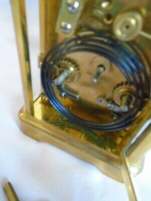 Antique 1880 Stunning Margaine  Repeater Carriage Clock + Key In Gwo 8