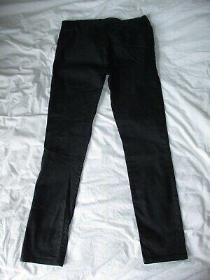 Calvin Klein Black Jeans Trousers Unusual Front Fastening Size 26 W28 L27 7