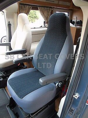 FIAT DUCATO MOTORHOME SEAT COVERS ANTHRACITE CLOTH FABRIC