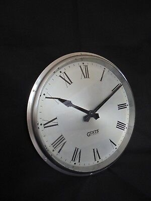 "Gents Of Leicester Industrial Cast Aluminium Wall Clock 13"" 2"