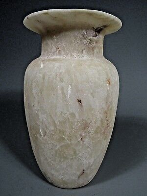 Fine Grand Tour Egypt Egyptian Provincial STYLE Carved Alabaster Vessel 19-20th 3