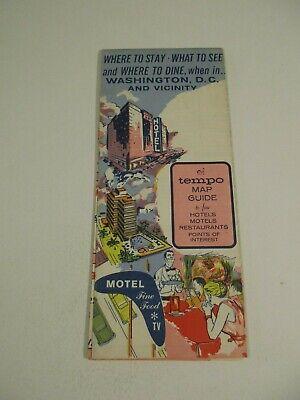 Vintage 1964 Holiday Inn Alexandria Virginia Hotel Travel Road Map Brochure-B2 2