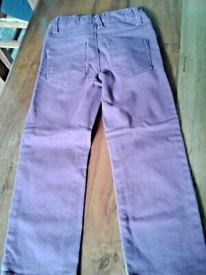 Boys Burgundy Red Jeans Age 5 Years Duck & Dodge 3