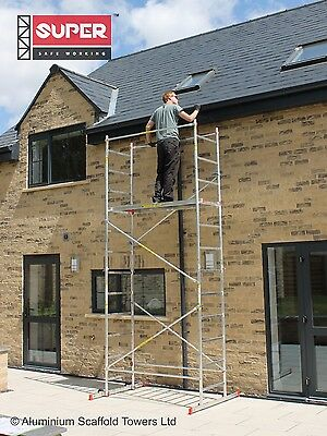 Super eDIY Aluminium Scaffold Tower - 5m Reach height - 3m Platform height 3