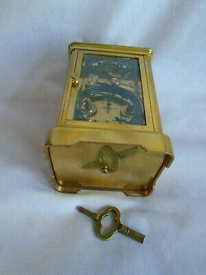Antique 1880 Stunning Margaine  Repeater Carriage Clock + Key In Gwo 9