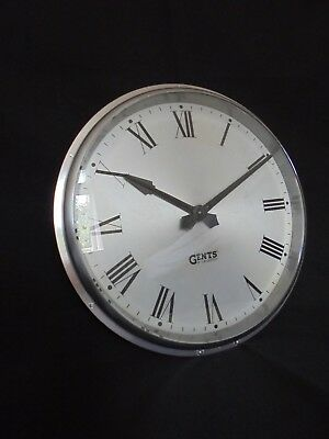 "Gents Of Leicester Industrial Cast Aluminium Wall Clock 13"" 10"