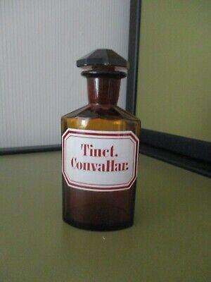 Alte Apotheken - Flasche Schliffstopfen 8 eckig@Form SELTEN @ Etikett Emaille? 5