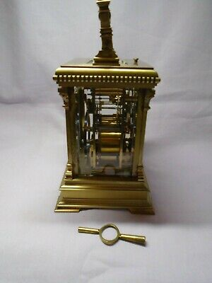 Very Large French Repeater / Alarm Carriage Clock In Excellent Condition + Key 5