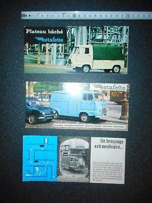 3 catalogues   ESTAFETTE RENAULT originaux pas copie bon état 2