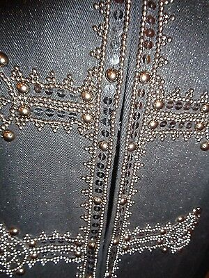 Chico's Embellished Military Glam Napoleon Black Cotton Jacket Size 2 (L) RARE!! 6