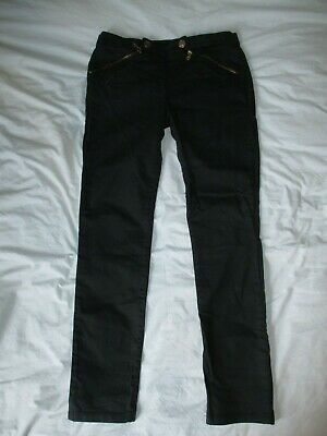 Calvin Klein Black Jeans Trousers Unusual Front Fastening Size 26 W28 L27 6