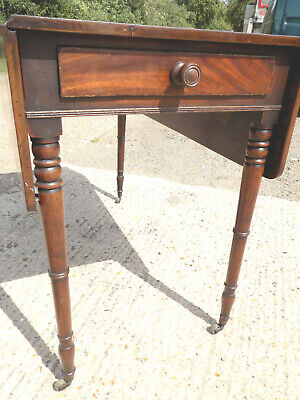antique,victorian,mahogany,pembroke,table,drop side,extending,drawer,tall legs 7