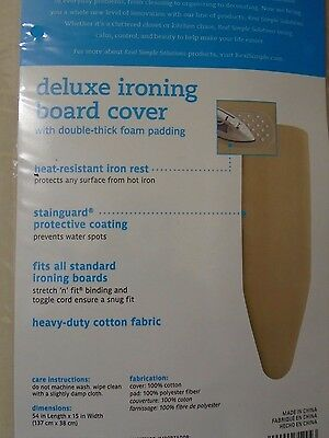 """1//2/"""" Ironing Board Cover /& Pad 15W"""" x 54L"""" BBB Homz Reversible  Extra-Thick"""