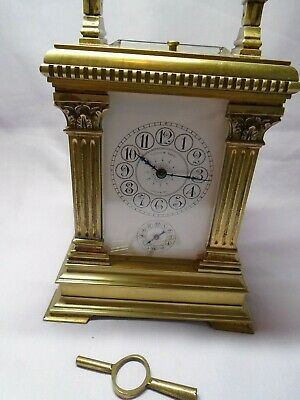 Very Large French Repeater / Alarm Carriage Clock In Excellent Condition + Key 3