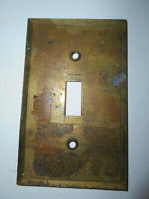 "Vintage brass switch plate 2 3/4 X 4 1/2"" heavy plate   (W3BxF) 2"