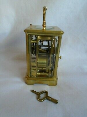 Antique 1880 Stunning Margaine  Repeater Carriage Clock + Key In Gwo 5