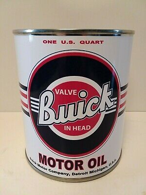 Vintage Buick Motor Oil Can 1 qt - (Reproduction Tin Collectible) 7
